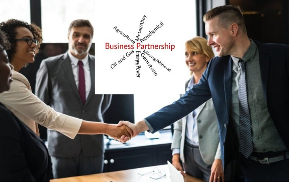 Agricultural business partnership, oil and gas business partnership, petrochemical business partnership, mining and mineral business partnership, gemstone business partnership, metal business partnership, alloy business partnership, energy and power business partnership