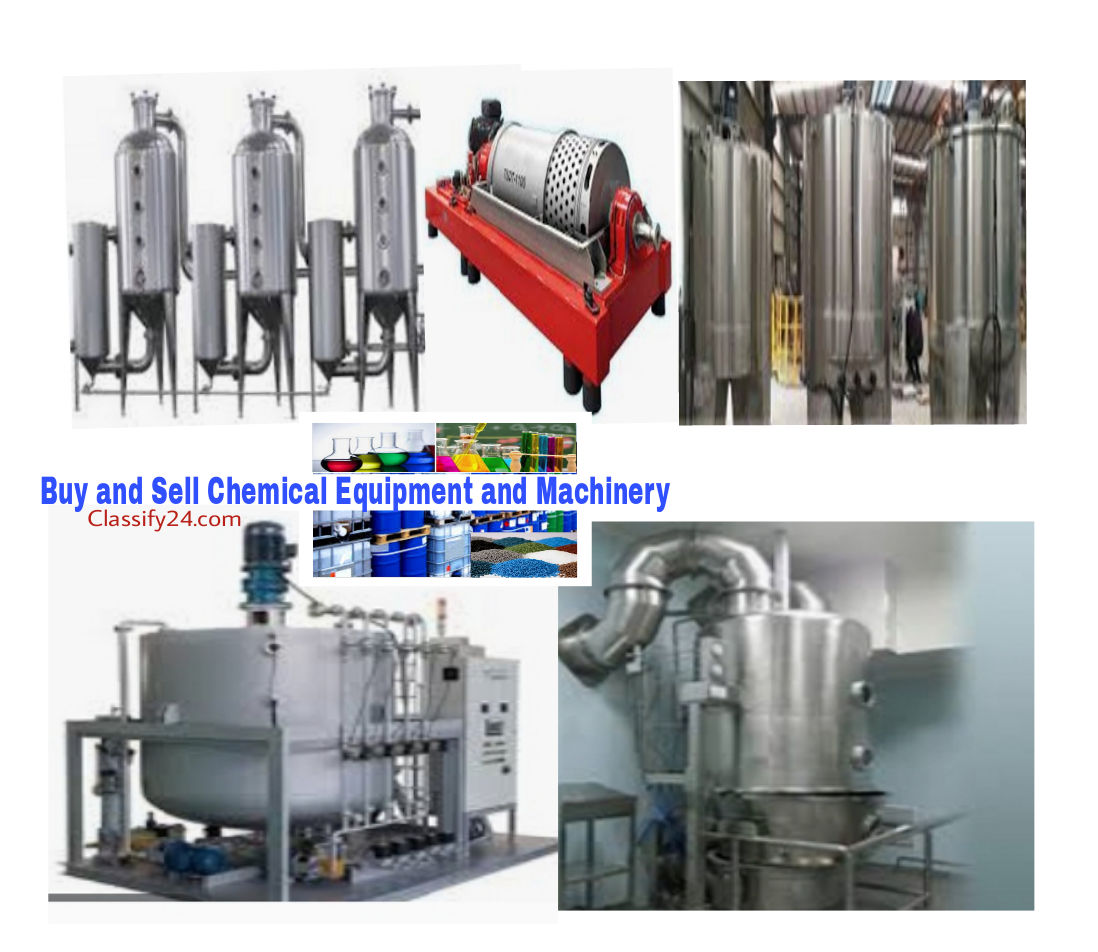 Buy and sell chemical equipment and machinery for sale, hire and lease. Import and export chemical equipment and machinery, chemical equipment and machinery rentalsIs