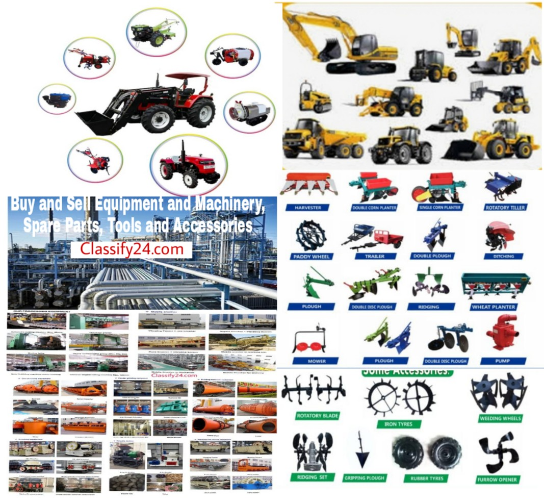 Buy and sell equipment and machinery marketplace for equipment and machinery, spare parts, tools and accessories